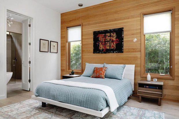 ช่องหน้าต่างในห้องนอน