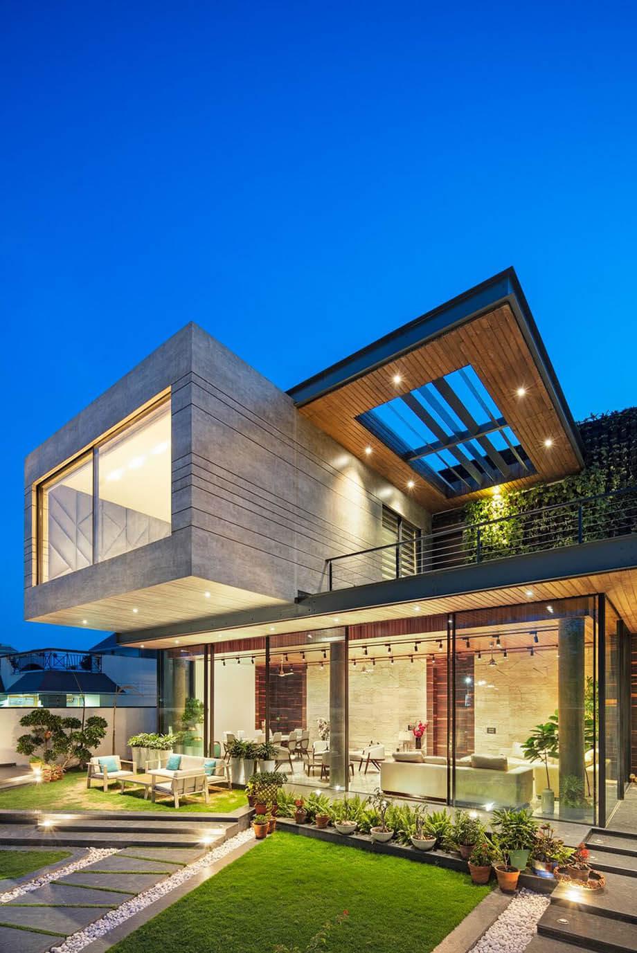 ออกแบบบ้านให้มีกล่องยื่น