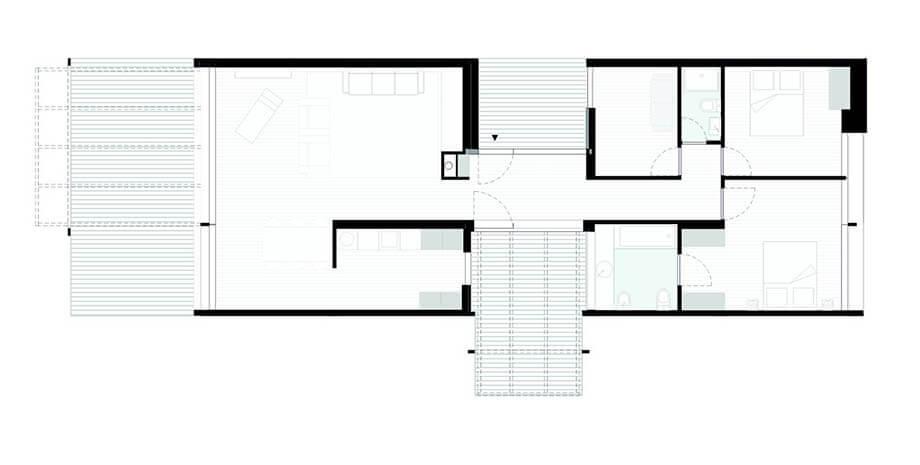 แปลนบ้าน 2 ห้องนอน