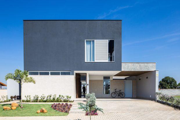 บ้านโมเดิร์นทรงกล่องสีขาวดำ