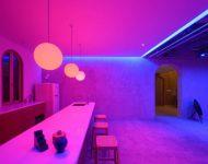 ลูกเล่นแสงไฟหลากสีในครัว
