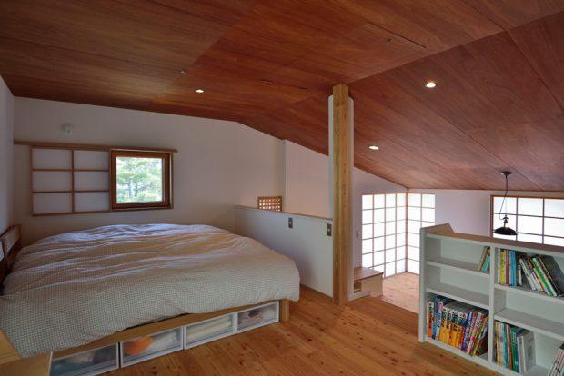 ห้องนอนโล่งๆ ที่ชั้นบน