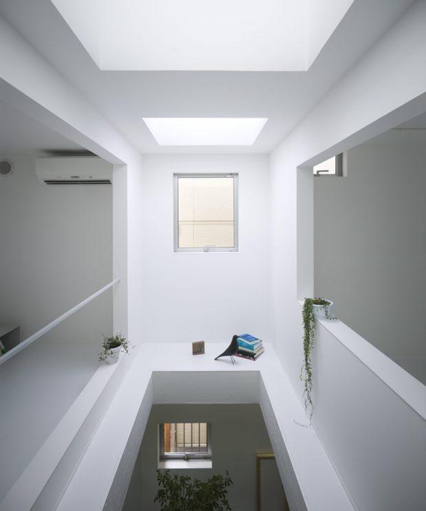 ช่องว่างโถงสูงมี skylight