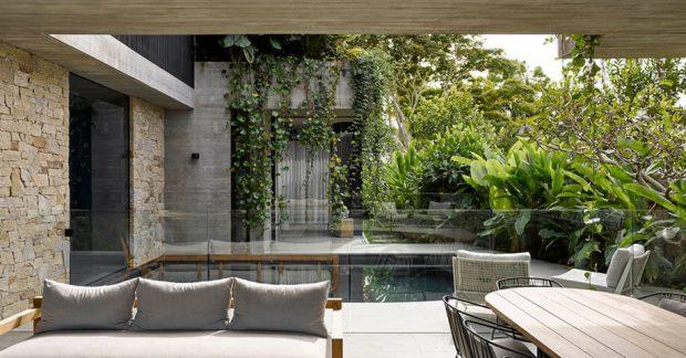 จัดสวนให้บ้านคอนกรีต