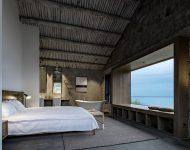ช่องหน้าต่างขนาดใหญ่ในห้องนอนชมวิวทะเล