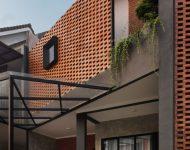 บ้านโครงสร้างเหล็กฟาซาดอิฐโชว์แนว