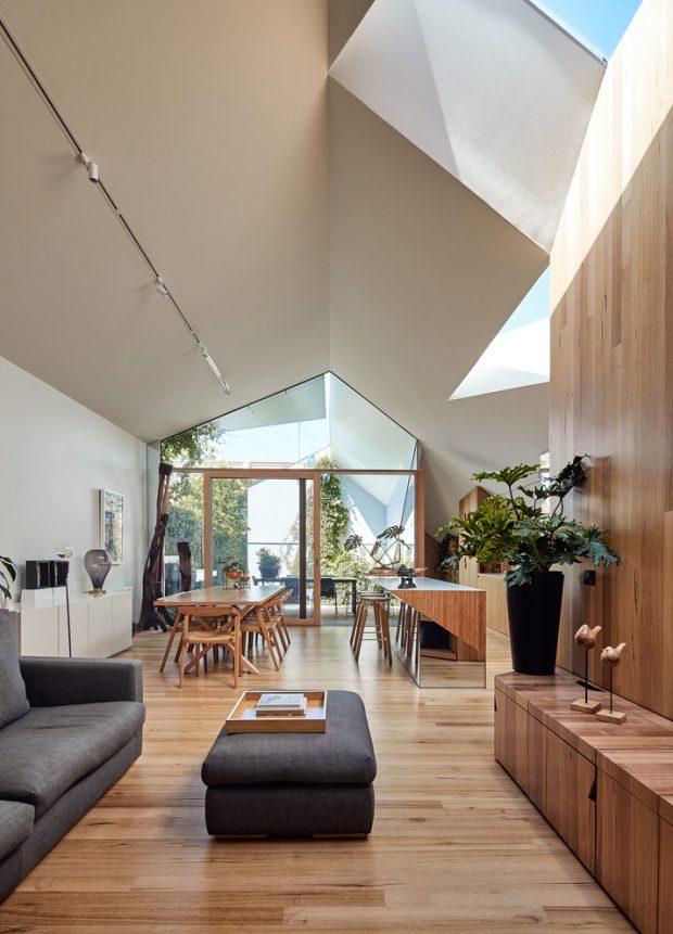 บ้านโมเดิร์นมินิมอลหลังคา skylight