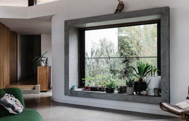 กรอบหน้าต่างกระจก